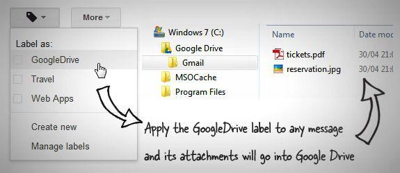 Wysyłanie załączników z GMaila do Google Drive