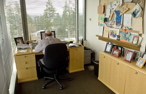 3. Miejsca pracy - biurko Steve Ballmer (Microsoft)