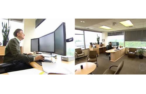 5. Miejsca pracy - biurko Bill Gates (Microsoft)