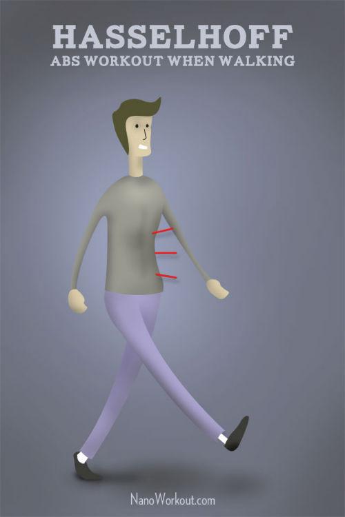 Bądź jak David Hasselhoff - ćwiczenia na ABS podczas spaceru