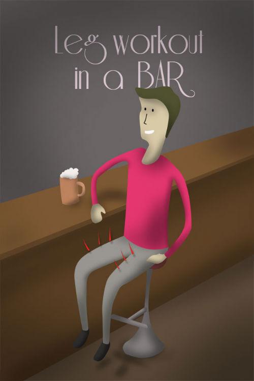 Bar - ćwiczenia na nogi