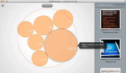 Bubble Browser - wygodne i ciekawe przeglądanie notatek z Evernote