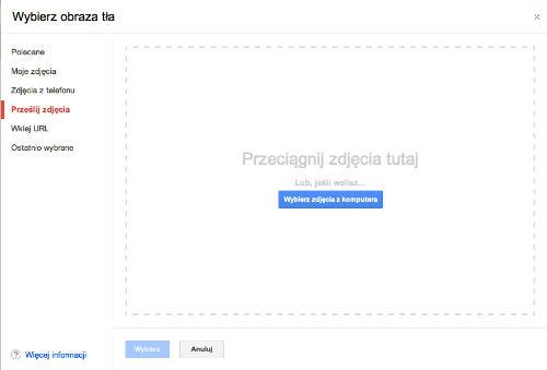GMail - Wybierz obraz tła - wybierz zdjęcia z komputera