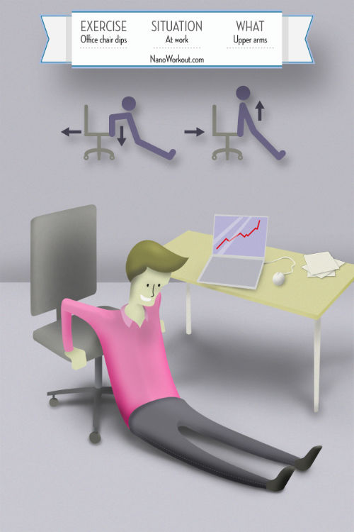Opady na krześle - piekielnie efektywne ćwiczenie w biurze