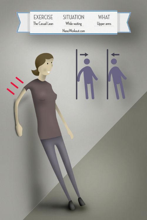 Opieranie się o ścianę - ćwiczenie na nadramię gdy na kogoś czekamy