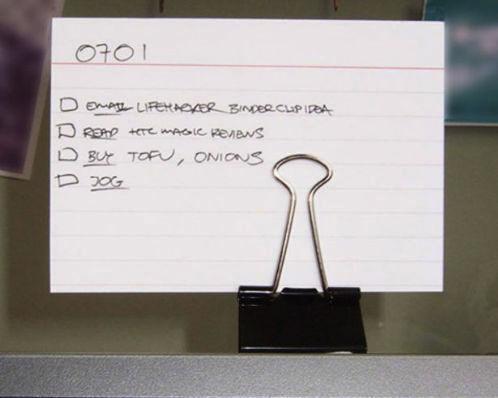 Podstawka na listę rzeczy do zrobienia