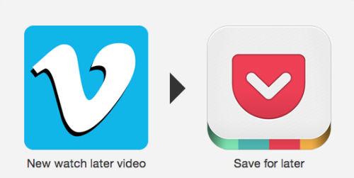 Przesyłanie filmów z Vimeo do Pocket do obejrzenia później