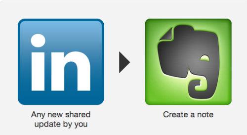 Przesyłanie statusów z LinkedIn do Evernote