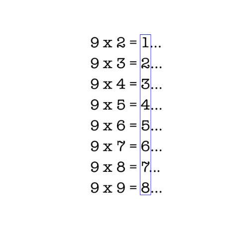 Tabliczka mnożenia dla humanisty - jak łatwo mnożyć przez 9 (rys. 1)
