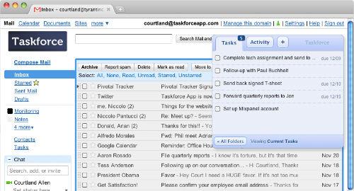 Zamiana maili z GMail na zadania (TaskForce)
