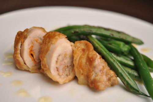 Zdrowe jedzenie w 30 minut - Faszerowane udka z kurczaka z zieloną fasolą