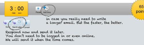 Gdy musimy odpowiedzieć na maila, dostaniemy 3 minuty na odpowiedź