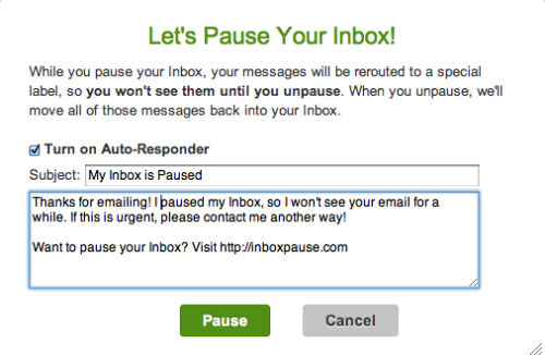 Let's Pause Your Inbox!