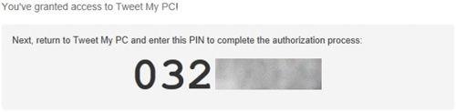 kopiujemy otrzymany numer PIN
