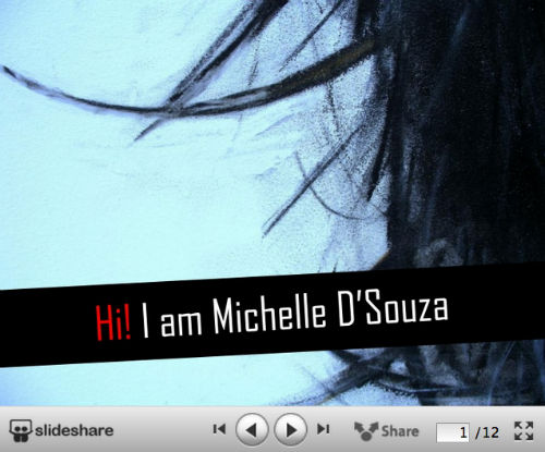 10 kreatywnych wizualnych CV od SlideShare - Michelle Dsouza