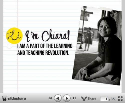10 kreatywnych wizualnych CV od SlideShare - Superteacher Visual Resume - Chiara Ojeda