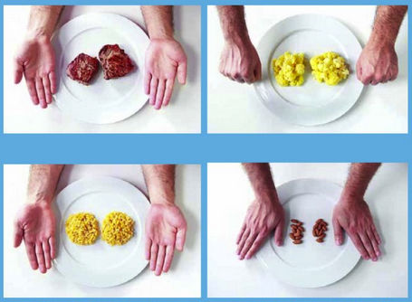"""Ile zjeść, żeby się nie przejeść Kontrolujemy porcje za pomocą """"zasady rąk"""" - zajawka"""