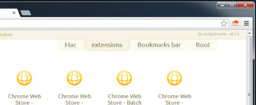 Quick Bookmarks - Google Chrome