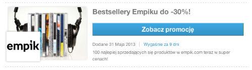 Bestsellery Empiku do -30 procent - Empik