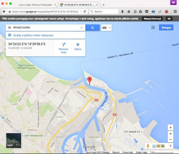 Open Location Codes Współrzędne geograficzne