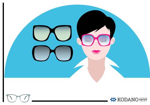 1 Jak wybrac okulary korekcyjne i przeciwsłoneczne do ksztaltu twarzy - twarz okrągla Modne okulary korekcyjne trendy