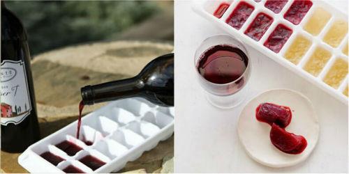 Oto jak wykorzystać tego lata foremki do kostek lodu zamrozić białe lub czerwone wino