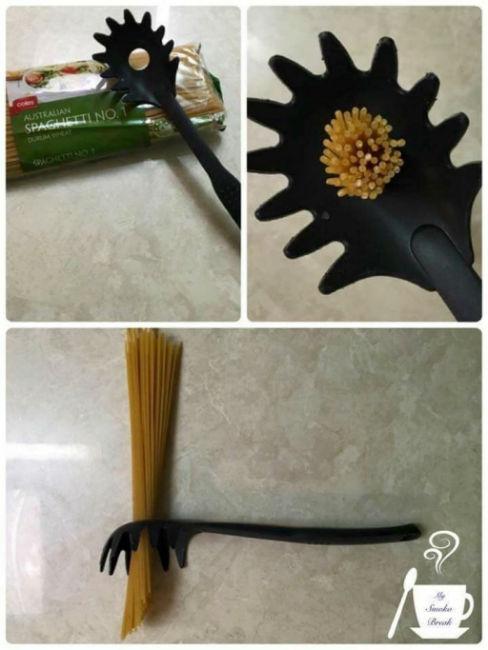 PRAWDZIWE przeznaczenie Zwykłe rzeczy 3. Dziurka w łyżce do nakładania spaghetti