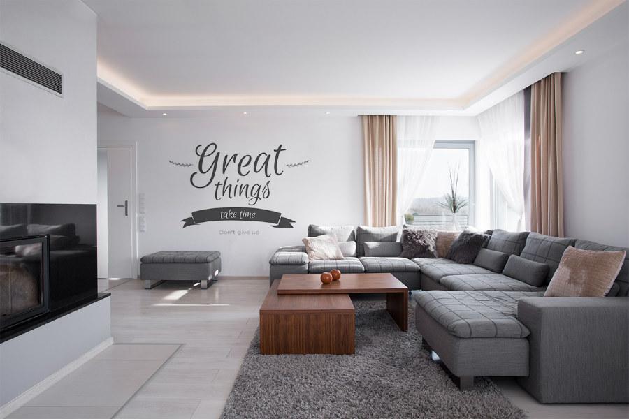 cytaty motywacyjne Naklejki na ścianę do salonu z napisami