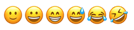Słownik emocji emotikonki radość śmiech dobry nastrój