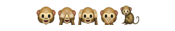 """małpy, mówiące """"nic nie widzę"""", """"nic nie powiem"""", """"nic nie słyszałam""""/""""nie słuchaj zła"""""""