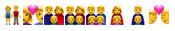 Skąd wziąć lista emoji słownik emotikonki rodzina związki związek małżeństki para biseksualna homoseksualna LGBT LGBTQ