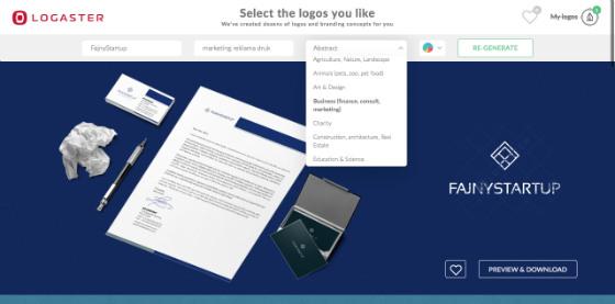 logaster-tworzenie-logotypu-typ startupu